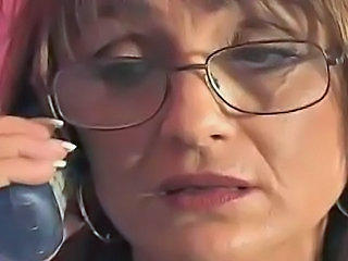 Amateur Glasses Mature Mom