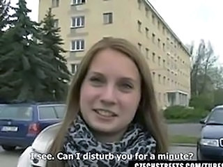 Amateur Cash Cute European Outdoor Teen