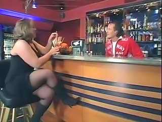 British Drunk MILF Public Stockings