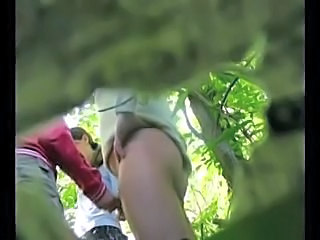 Handjob  Outdoor Teen Threesome Voyeur