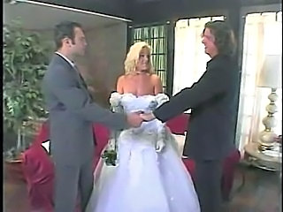 Blonde Bride MILF Threesome