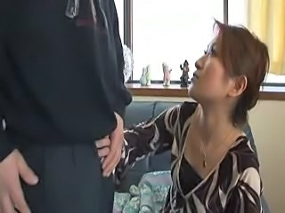 Handjob Japanese MILF Mom