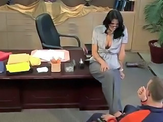 Big Tits Brunette Glasses MILF Office