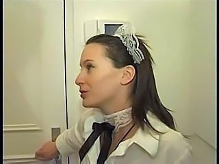French submissive maid used