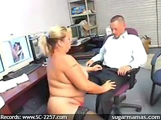 Chubby Mature Mom Office Secretary