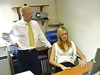 beauty blonde nympho office girl