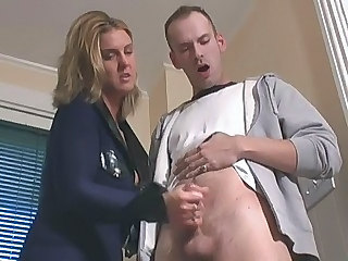 Blonde Handjob MILF Uniform