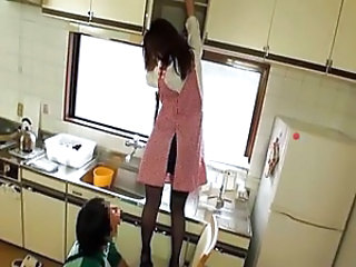 Asian Kitchen MILF Pornstar