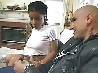 Cute Ebony Handjob Interracial Teen