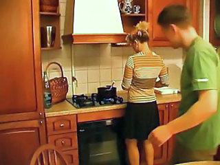 Kitchen Mature Mom Virgin