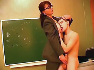 Big Tits Glasses Handjob MILF Pornstar School Teacher
