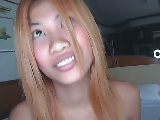 Hot asian gets a creampie