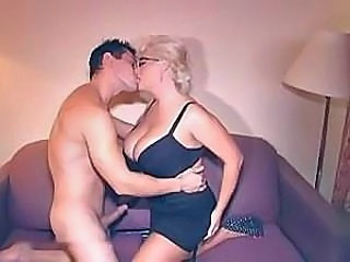 Big Tits Blonde Bus Glasses Kissing Mature