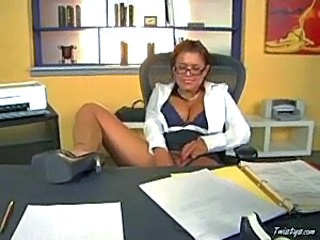 Secretary with dildo 1