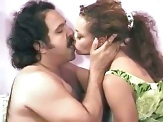 Ron Jeremy is getting blown and banging a horny ebony babe