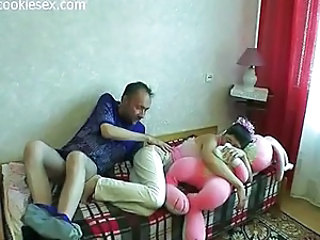 Amateur Daddy Daughter Family Old and Young
