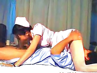 Asian Blowjob Nurse Uniform Young