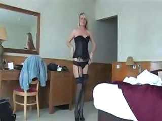 Amazing Blonde Lingerie Stockings Teen