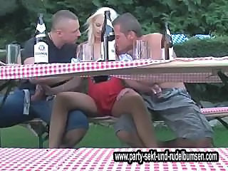 Amazing Blonde Drunk Handjob Outdoor Pornstar