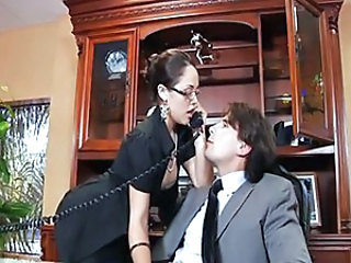 Big Tits Brunette Glasses MILF Office Pornstar Secretary