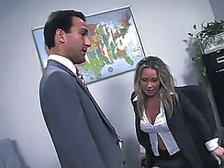 Naughty secretary hired for anal