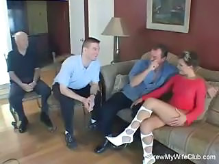 Horny Husband Sets Up Fucking Action For His Wife So He Can Watch