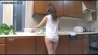 Ass Brunette Kitchen Panty Teen