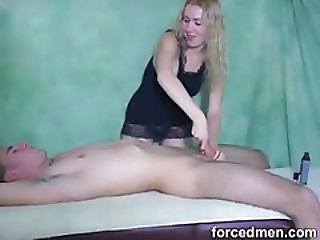 Guy Tied Down And Jerked Off
