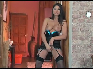 Big Tits Brunette Corset Masturbating MILF Pornstar Stockings