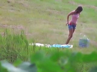 Amazing Outdoor Pornstar Teen Voyeur