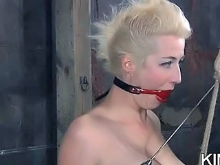 Submissive Gagged And Teased