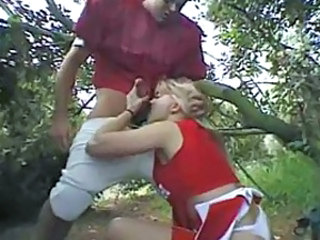 Anal sex in the woods with cheer slut