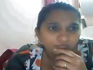 Indian Housewife Playing on Cam