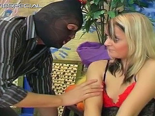 Blond Whore Blindfolded And Sucking Part1