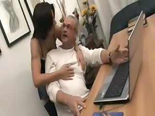 Hardcore Italian MILF Office