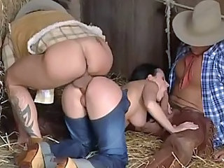 Anal Blowjob Farm Fantasy Jeans MILF Threesome