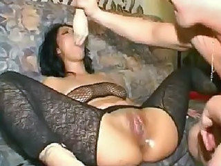 Couple toying and fisting