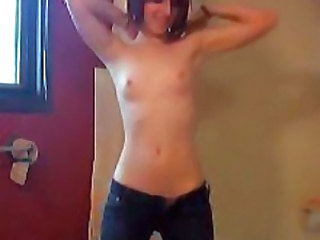 Beautiful Emo Teen Dancing Naked