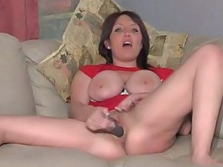 Big Tits British European Masturbating MILF Solo Toy