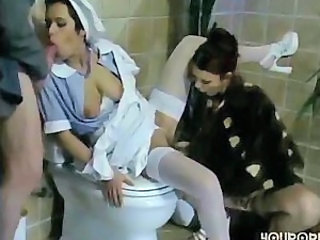 Blowjob Clothed Fantasy Groupsex Lesbian Maid MILF Stockings Toilet Uniform
