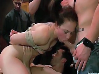 Bondage Gangbang Party Slave