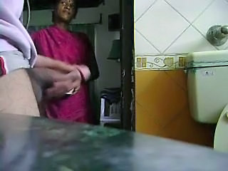 Masturbating in front of my young indian maid. Amateur