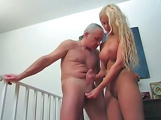 Babe Blonde Handjob Natural Old and Young