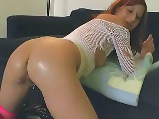 Red Head Chick Playing with Ass