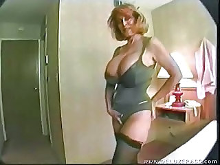 Big Tits Lingerie MILF Stockings