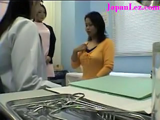 Doctor Japanese Lesbian MILF Threesome Uniform