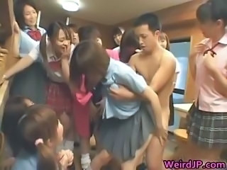 Cute Japanese Orgy Party Skirt Student