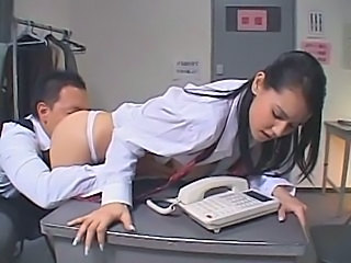 Asian Cute Licking Office Old and Young