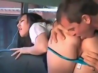 Ass Brunette Car Cute Licking School Student