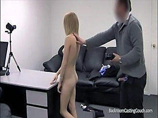 Amateur Blonde Casting Cute Skinny Small Tits Teen